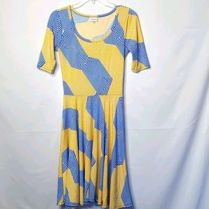 LuLaRoe scoop neck short sleeve dress sz XS